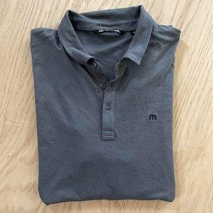 Mens TRAVIS MATHEW Stretch Performance Golf Polo Shirt XXL 2XL Gray